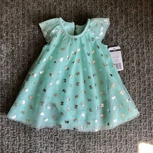 NWT Baby Starters Aqua Baby Dress in 6 months.